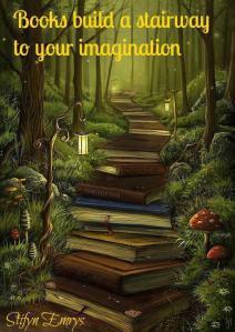 escada de livros