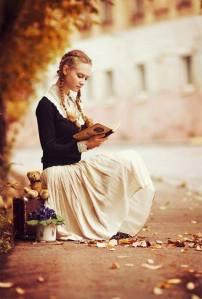 rapariga com livro