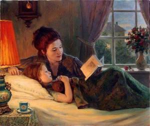 mãe e filha e livro