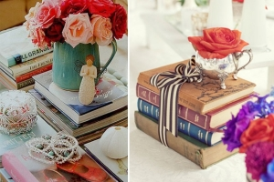 books and flowers 1